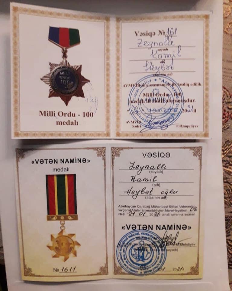 Kamil Zeynallı iki medalla təltif edildi - FOTO